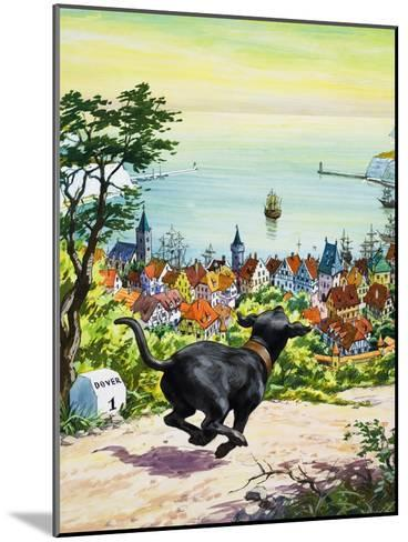 Dog Running to Find His Master, 1969-English School-Mounted Giclee Print