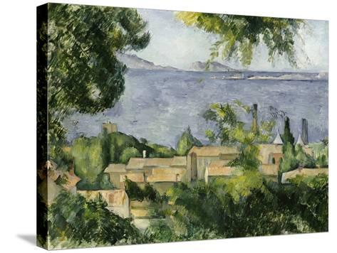The Rooftops of L'Estaque, 1883-85-Paul C?zanne-Stretched Canvas Print