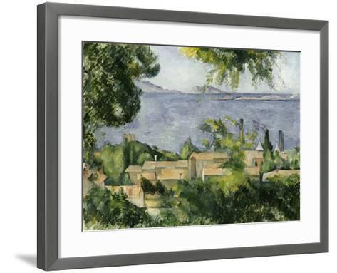 The Rooftops of L'Estaque, 1883-85-Paul C?zanne-Framed Art Print