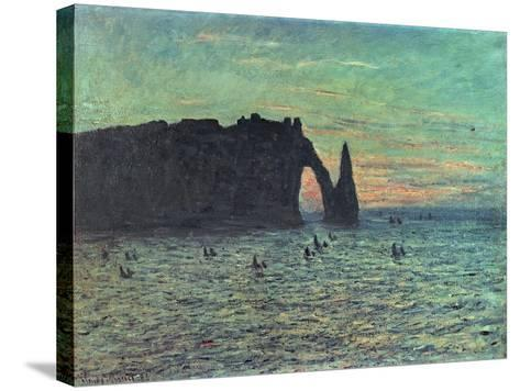 The Hollow Needle at Etretat, 1883-Claude Monet-Stretched Canvas Print