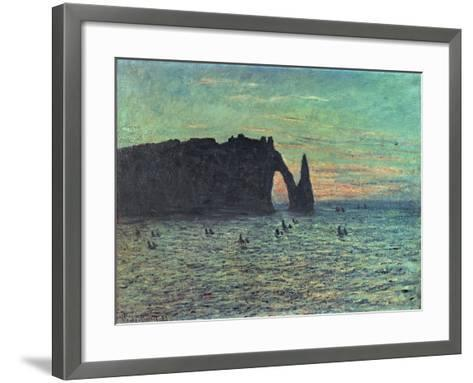 The Hollow Needle at Etretat, 1883-Claude Monet-Framed Art Print
