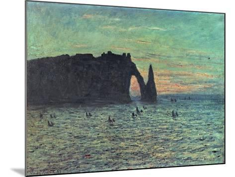 The Hollow Needle at Etretat, 1883-Claude Monet-Mounted Giclee Print