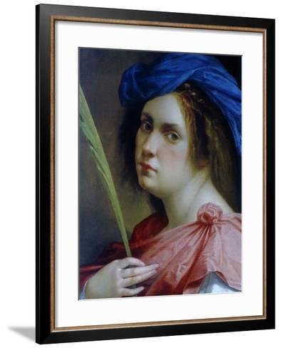 Self Portait as a Martyr, C.1615-Artemisia Gentileschi-Framed Art Print