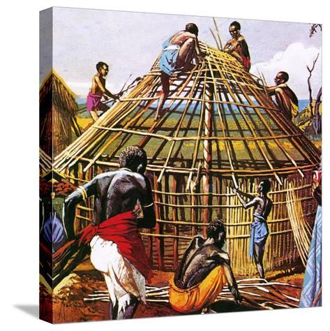 Proud Giants of Africa: the Batushi-English School-Stretched Canvas Print