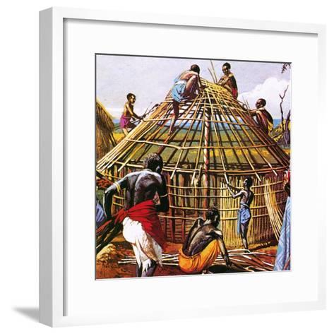 Proud Giants of Africa: the Batushi-English School-Framed Art Print