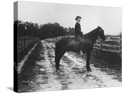 Mr. Eugene Du Pont's Boy on Horseback-Pierre Gentieu-Stretched Canvas Print