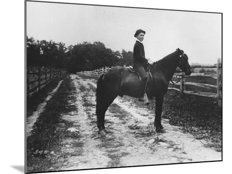 Mr. Eugene Du Pont's Boy on Horseback-Pierre Gentieu-Mounted Giclee Print