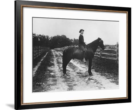 Mr. Eugene Du Pont's Boy on Horseback-Pierre Gentieu-Framed Art Print