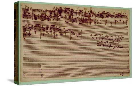 Last Page of the Art of Fugue, 1740S-Johann Sebastian Bach-Stretched Canvas Print