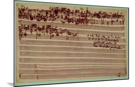 Last Page of the Art of Fugue, 1740S-Johann Sebastian Bach-Mounted Giclee Print