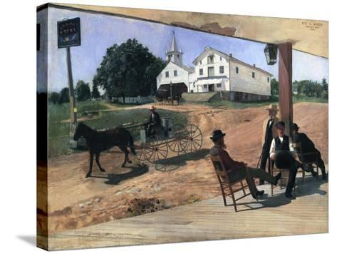 Ella's Hotel, Richfield Center, 1885-Otto Henry Bacher-Stretched Canvas Print