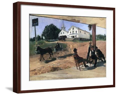 Ella's Hotel, Richfield Center, 1885-Otto Henry Bacher-Framed Art Print