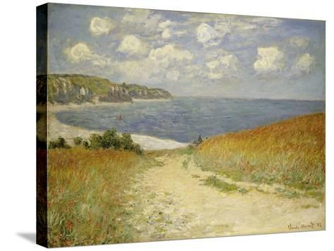 Path in the Wheat at Pourville, 1882-Claude Monet-Stretched Canvas Print