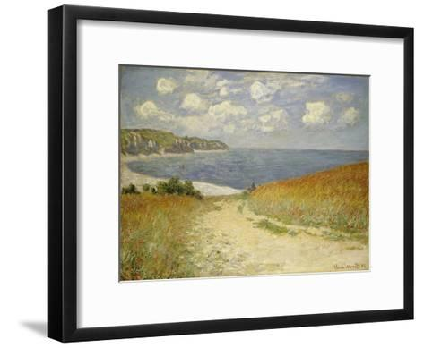 Path in the Wheat at Pourville, 1882-Claude Monet-Framed Art Print