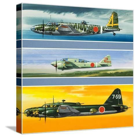 Japanese Aircraft of World War Two-Wilf Hardy-Stretched Canvas Print