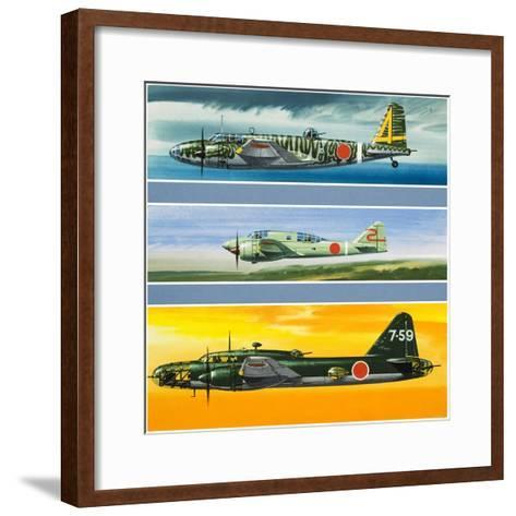 Japanese Aircraft of World War Two-Wilf Hardy-Framed Art Print