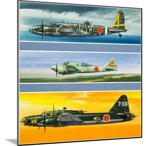 Japanese Aircraft of World War Two-Wilf Hardy-Mounted Giclee Print