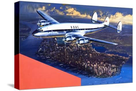 Boac Plane, from 'speed and Power'-Wilf Hardy-Stretched Canvas Print