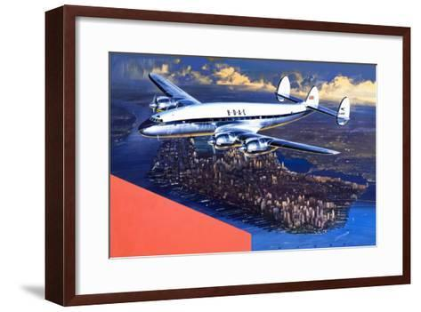 Boac Plane, from 'speed and Power'-Wilf Hardy-Framed Art Print
