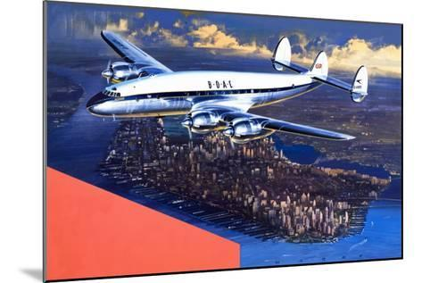 Boac Plane, from 'speed and Power'-Wilf Hardy-Mounted Giclee Print
