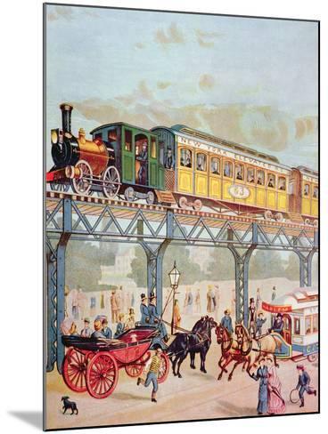 New York Elevated Railway, C.1880-American School-Mounted Giclee Print