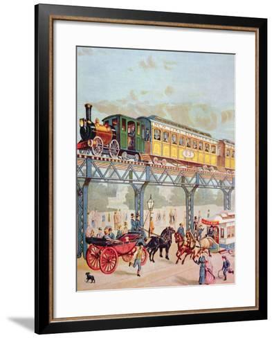 New York Elevated Railway, C.1880-American School-Framed Art Print