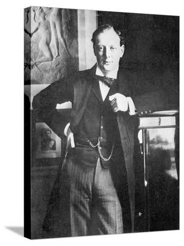 Winston Spencer Churchill in 1904-English Photographer-Stretched Canvas Print