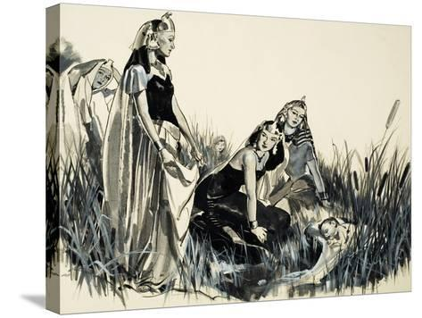 Moses Is Found Among the Bullrushes-McConnell-Stretched Canvas Print