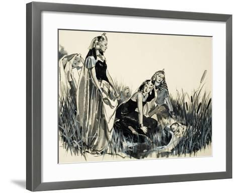 Moses Is Found Among the Bullrushes-McConnell-Framed Art Print