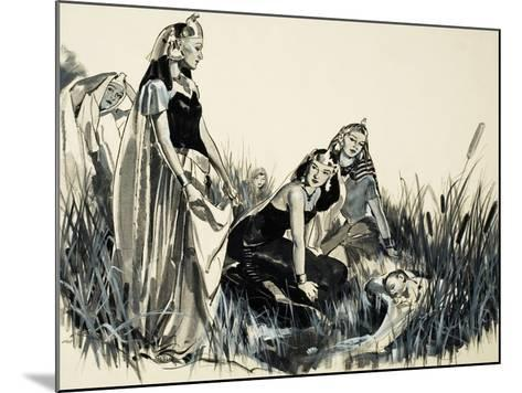 Moses Is Found Among the Bullrushes-McConnell-Mounted Giclee Print