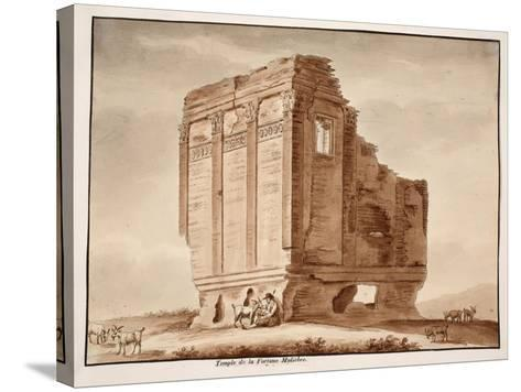 Temple of Fortuna Muliebre, 1833-Agostino Tofanelli-Stretched Canvas Print