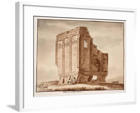 Temple of Fortuna Muliebre, 1833-Agostino Tofanelli-Framed Art Print