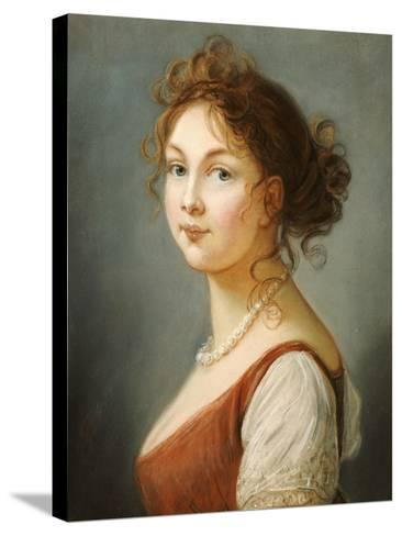 Portrait of Louisa, Queen of Prussia- Vigee-Lebrun-Stretched Canvas Print