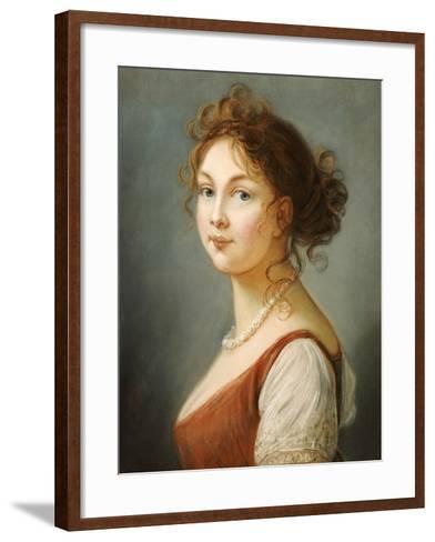 Portrait of Louisa, Queen of Prussia- Vigee-Lebrun-Framed Art Print