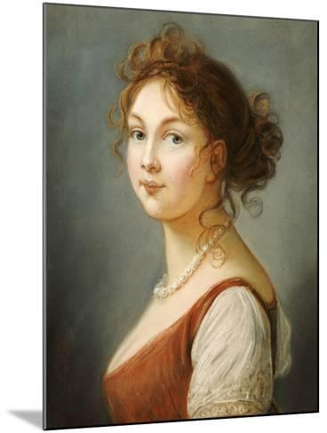 Portrait of Louisa, Queen of Prussia- Vigee-Lebrun-Mounted Giclee Print