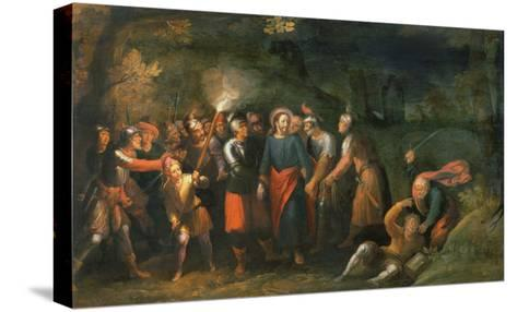 Christ in the Garden of Gethsemane-Hans Jordaens III-Stretched Canvas Print