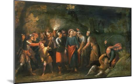 Christ in the Garden of Gethsemane-Hans Jordaens III-Mounted Giclee Print