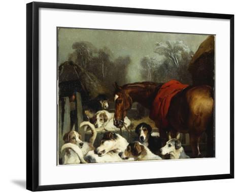 No Hunting Till the Weather Breaks-Edwin Henry Landseer-Framed Art Print