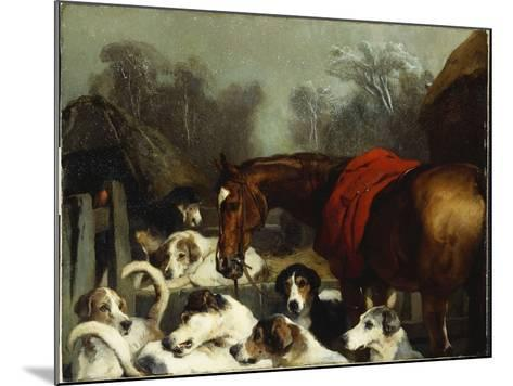 No Hunting Till the Weather Breaks-Edwin Henry Landseer-Mounted Giclee Print