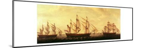 Three Hudson Bay Ships in the Thames-Francis Holman-Mounted Giclee Print