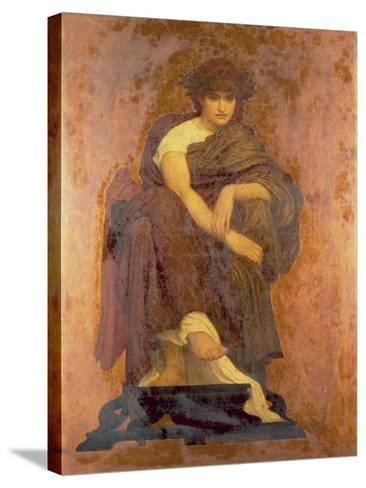 Mnemosyne, the Mother of the Muses-Frederick Leighton-Stretched Canvas Print