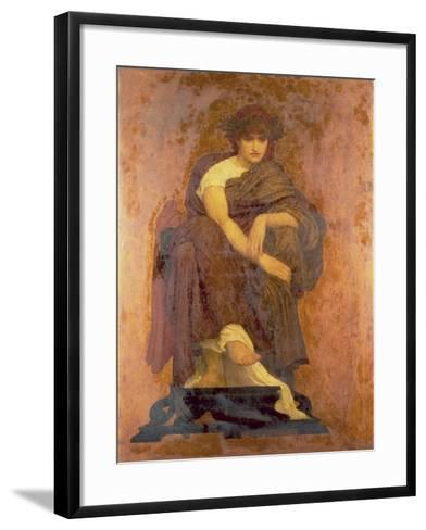 Mnemosyne, the Mother of the Muses-Frederick Leighton-Framed Art Print