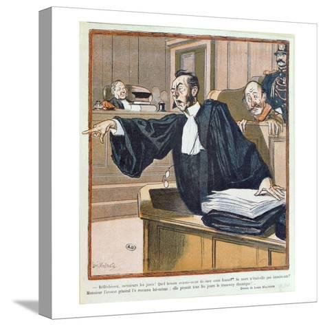 A Lawyer Addressing the Jury, 1900-Louis Malteste-Stretched Canvas Print