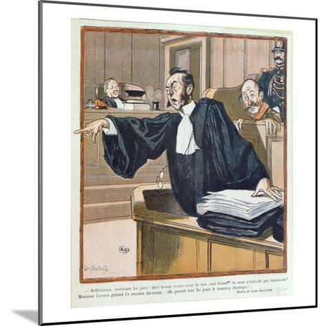 A Lawyer Addressing the Jury, 1900-Louis Malteste-Mounted Giclee Print