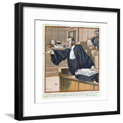 A Lawyer Addressing the Jury, 1900-Louis Malteste-Framed Art Print