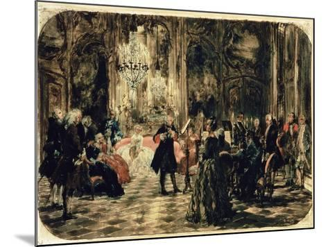 Sketch for the Flute Concert, 1852-Adolph von Menzel-Mounted Giclee Print