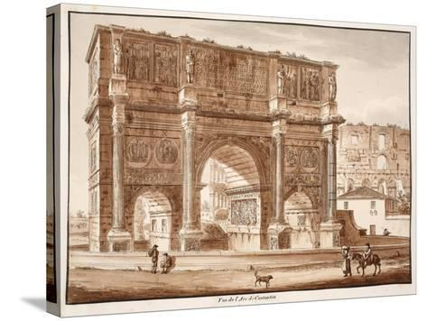View of the Arch of Constantine, 1833-Agostino Tofanelli-Stretched Canvas Print