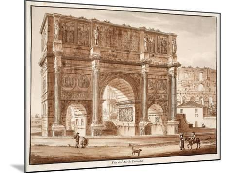 View of the Arch of Constantine, 1833-Agostino Tofanelli-Mounted Giclee Print
