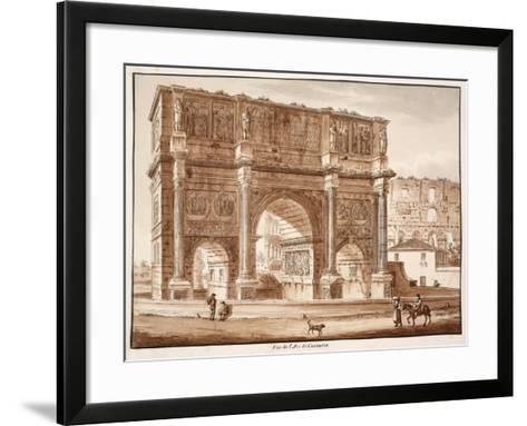 View of the Arch of Constantine, 1833-Agostino Tofanelli-Framed Art Print