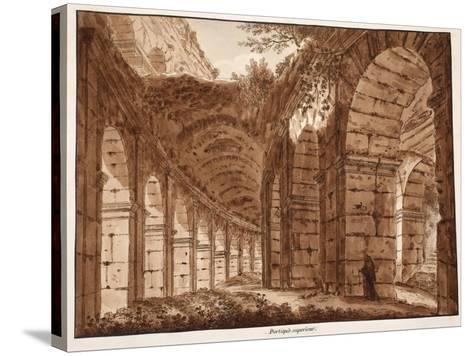 The Top Storey of the Colosseum, 1833-Agostino Tofanelli-Stretched Canvas Print